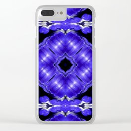 Purple Passion Pattern 1 Clear iPhone Case