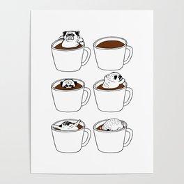 More Coffee Pug Poster