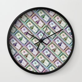 240 Million Dollars Slanted Money Bling Cash Dollar Bills Loot Coin Wall Clock