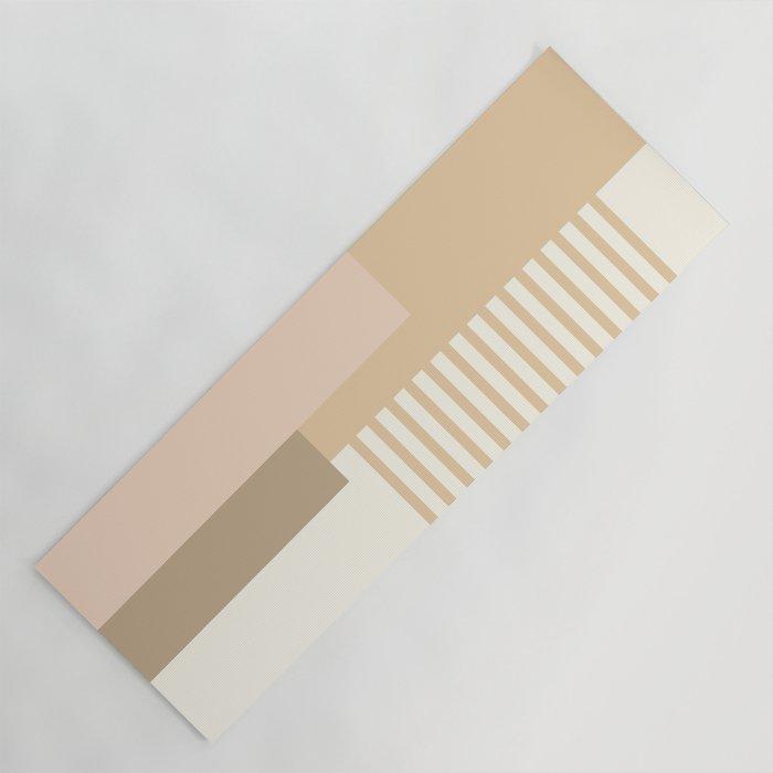 Sol Abstract Geometric Print in Tan Yoga Mat