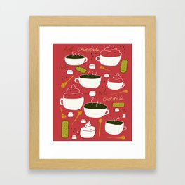 Hot Chocolate - red Framed Art Print