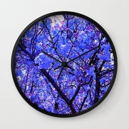 Dogwood Blue Tone Wall Clock