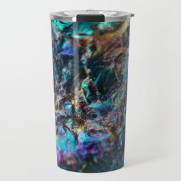 Turquoise Oil Slick Quartz Travel Mug