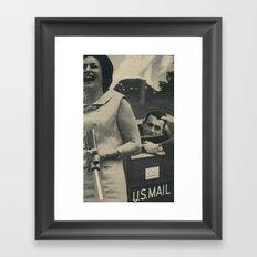 Return to sender Framed Art Print