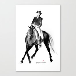 Horse (Dressage / half pass) Canvas Print