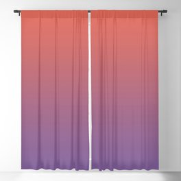 Pantone Living Coral & Chive Blossom Purple Gradient Ombre Blend, Soft Horizontal Line Blackout Curtain