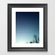 migrate Framed Art Print