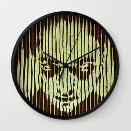 no casualities - green version Wall Clock