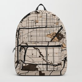 Houston Street Map // Brown Theme Backpack