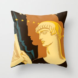 Federal Art Pennsylvania retro ad Throw Pillow