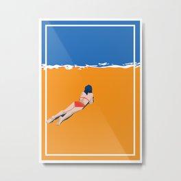 Tide on the Beach Metal Print