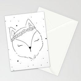 Fox Blossom illustration Stationery Cards