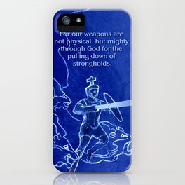 Warrior 3 With Heavenly Host iPhone Case