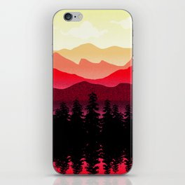 Mountain view iPhone Skin