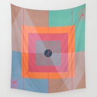 positive Wall Tapestries featuring Positive geometry by ViviGonzalezArt
