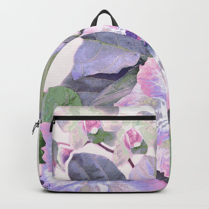 Tropical Botanical Lilac Backpack