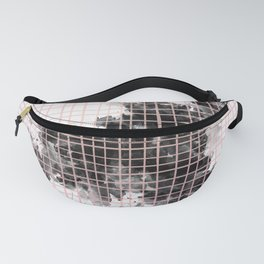 abstract watercolor pattern 01 // black white pink Fanny Pack