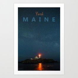 York - Maine. Art Print