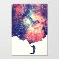 sky Canvas Prints featuring Painting the universe by badbugs_art