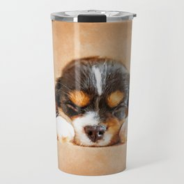 Cavalier King Charles Spaniel Puppy Travel Mug