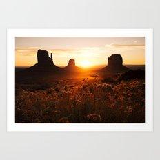 Sunrise in Monument Valley Art Print