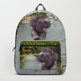 Elephant and Water Backpack