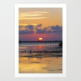 Sunset on the Sound Side Art Print