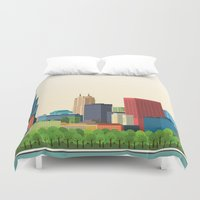 chicago Duvet Covers featuring Chicago by GoFe