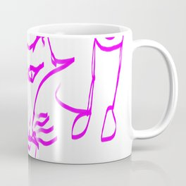 Lilac fox waiting for Little Red Riding Hood Coffee Mug