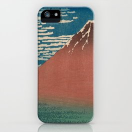 Fine Wind, Clear Weather also known as Red Fuji iPhone Case