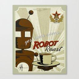 Robot Roast Canvas Print