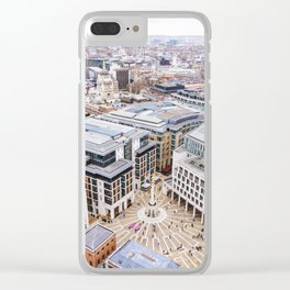City View over London from St. Paul's Cathedral 2 Clear iPhone Case