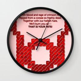 Red Lantern Symbol & Oath Wall Clock