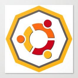 ubuntu apache linux operating  system  stickers Canvas Print