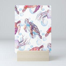 Under the Sea (Sea Turtles) Mini Art Print