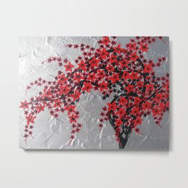 Red and black blossom tree Metal Print
