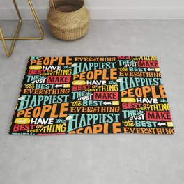 THE HAPPIEST PEOPLE x typography Rug