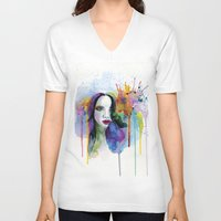 eternal sunshine of the spotless mind V-neck T-shirts featuring Eternal sunshine by YOUMEECHO  ILLUSTRATION STUDIO