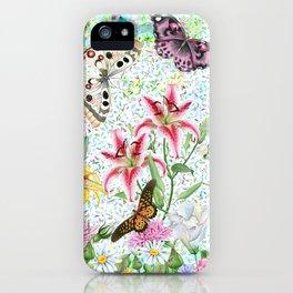 Magical Butterfly Flower Garden iPhone Case