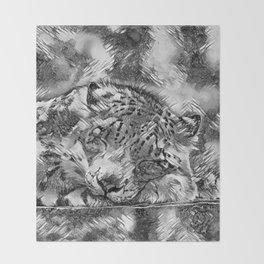 AnimalArtBW_Leopard_20170605_by_JAMColorsSpecial Throw Blanket