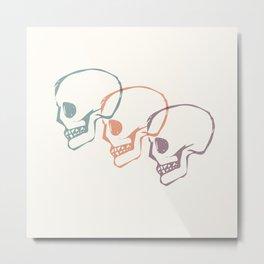 Triplet Skulls Metal Print