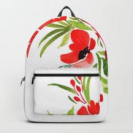 Beautiful Watercolor Floral Element Backpack