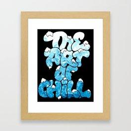 """The Art Of Chill """"Ice"""" Design Framed Art Print"""