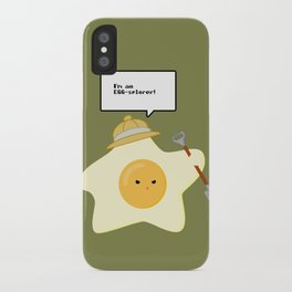 I'm an EGG-splorer! iPhone Case