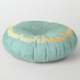 Gold Foil Tree Ring Floor Pillow