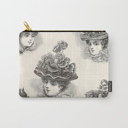 Vintage Hat Ad, Paris 1897 Carry-All Pouch