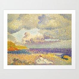 "Henri-Edmond Cross ""Avant L'Orage (La Baigneuse)"" Art Print"