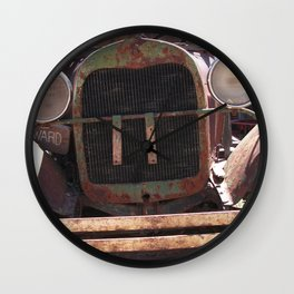 Truck Grill, Old Truck Grill, Vintage, Antique Truck Wall Clock