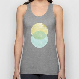 duality: yellow & teal Unisex Tank Top