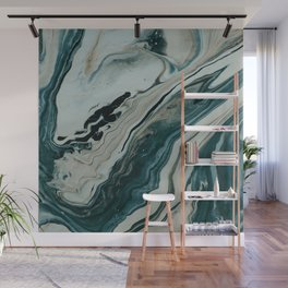 Tranquil Arctic Painting Marble Wall Mural